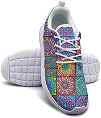 Byzantine Moroccan Square Pattern Women Canvas Casual Shoes Low Help Sneakers