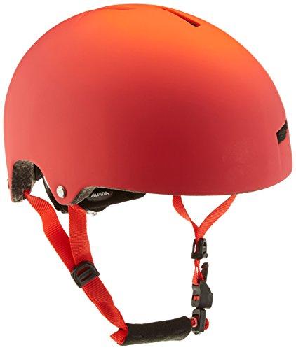 ALPINA Airtime Casco de Bicicleta, Unisex Adulto, Foco Rojo, 52-57 cm