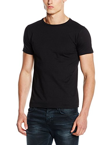 Fruit of the Loom Fitted Valueweight T-Shirt, Nero (Black), X-Large Uomo