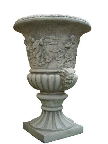 Amphore Engel, zum bepflanzen, aus Steinguss, Frostfest