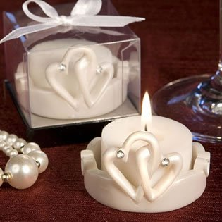 Candle Wedding Favors: Interlocking Hearts, 180