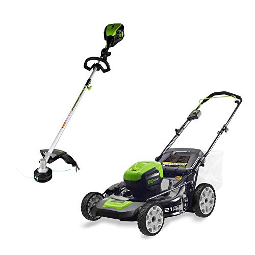 Lowest Prices! Greenworks PRO 21-Inch 80V Cordless Lawn Mower with 16-Inch PRO 80V Cordless String T...