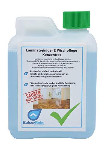 KaiserRein Laminatreiniger & Laminatpflege Konzentrat 500 ml Kanister Reiniger für Laminat und Fliesen als Grundreiniger und Unterhaltsreiniger