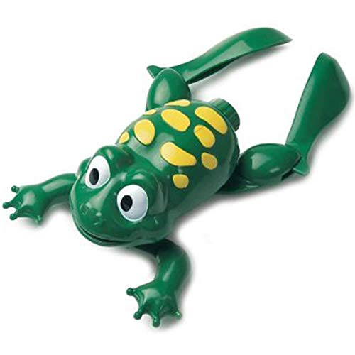 liberty imports baby bath toys Liberty Imports Swimming Frog with Baby Plastic Electronic Battery Operated Cute Bath Toy for Kids Bathtime Fun (Green)