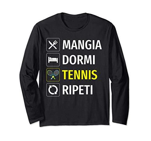 Tennista Tennis Divertente Racchetta Regalo Maglia a Manica