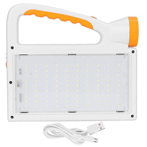 Luz LED solar, portátil de mano para acampar al aire libre, linterna de emergencia, material plástico