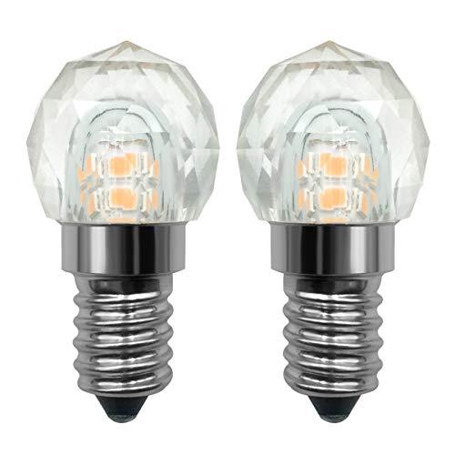Mini E14 LED gloeilamp solide K9 glas kristallen kroonluchter plafondlamp 2W (20W) niet dimbaar warm wit 2700K, 2 stuks [meerweg]