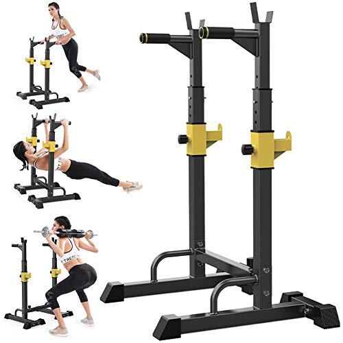 Rack Regolabile Bodybuilding Squat, Fitness Sicuro Sollevamento Pesi di Sport Perdita di Peso Allenamento di Forza Palestra Rack Pesi, Staffa Palestra Interna, Max Portata 550 Lbs