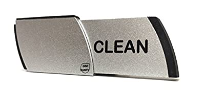 Premium Metal Dishwasher Magnet Clean Dirty Sign | Contemporary Indicator - Best Kitchen Gadgets for All Dishwashers - For Home or Office Organization Using Padded Magnets or 3M Tabs (Black Lettering) by Dish Nanny
