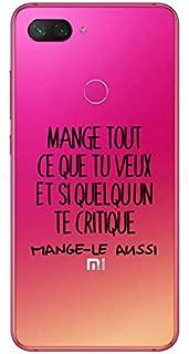 ZOKKO Case for Xiaomi Mi 8 Lite Mange Tout Que tu Veux – Soft Transparent Black Ink