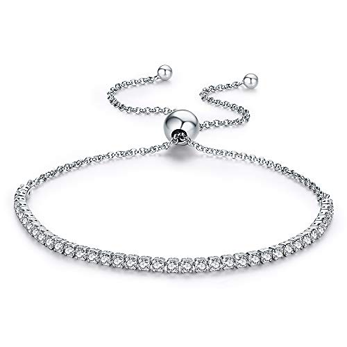 CLÉMENT & HILTON - Elli Armband verstellbares Kristall Armband 925 Sterling Silber excellent für Frauen und dem täglichen Gebrauch