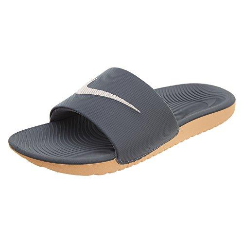 Nike Kawa Slide, Scarpe da Spiaggia e Piscina Donna, Grigio (Anthrazit/Rosa Anthrazit/Rosa), 42 EU