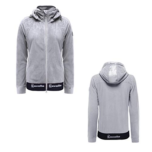 Cavallo Fleece Jacke Rella in Grey Melange Herbst- Winter 2020/2021, Größe:44