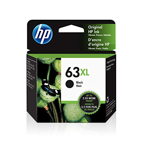 HP 63XL | Ink Cartridge | Works with HP Deskjet 1112, 2100 Series, 3600 Series, HP ENVY 4500 Series, HP OfficeJet 3800 Series, 4600 Series, 5200 Series | Black | F6U64AN