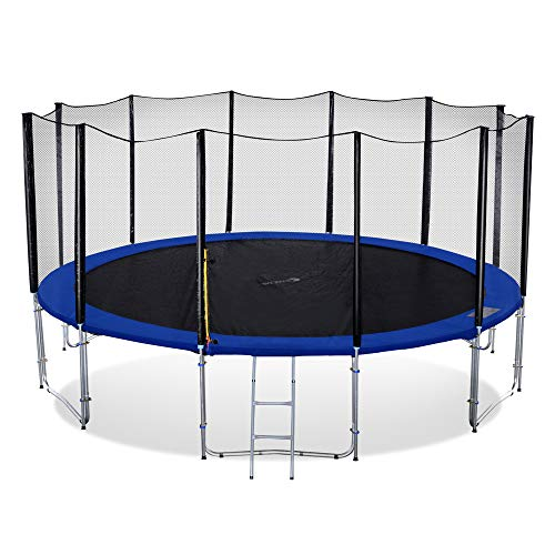 Exacme 16 Foot Heavy Duty Trampoline with Enclosure Net, Safety Pad and Ladder All-in-one Combo Set