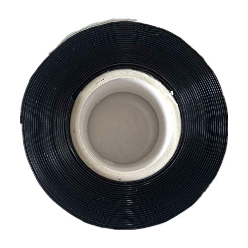 NBNDS Seal Self Fusing Silicone Tape - 1 Inch Wide and 15 Feet Long Weatherproof Self Fusing Silicone Sealing Tape for Electrical Wires Wrap/Emergency Pipeline Repair/Cable Bandage/Tool Fixing(Black)