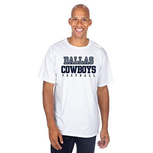NFL Dallas Cowboys Mens Practice T-Shirt, White, Large
