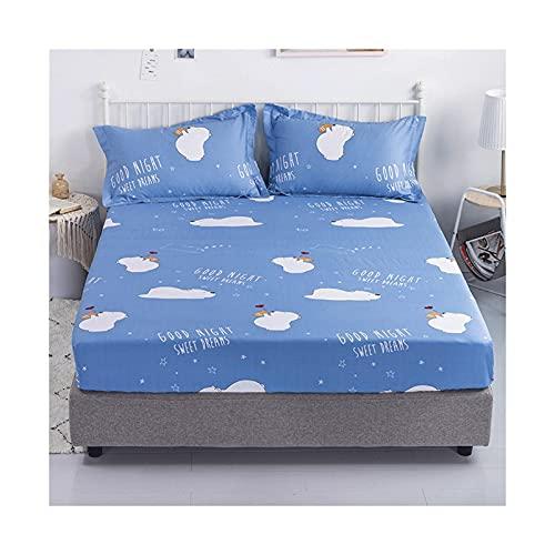 MZP Una Pieza Sabanas Bajeras Ajustable 100% algodón Sabanas Bajera Cama Alto Especial 28cm impresión patrón Sábana Bajera Lisa Bed Sheets (Color : Animal, Size : 150x200cm)