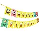 SpongeBob Birthday Banner, SpongeBob Birthday Theme Party Supplies, SpongeBob...