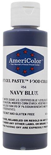 Americolor Soft Gel Paste Food Color, 4.5-Ounce, Navy Blue