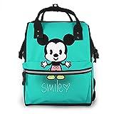 Mochila para pañales – Smile Baby Mickey multifunción impermeable mochila de viaje de maternidad bebé cambiador bolsas