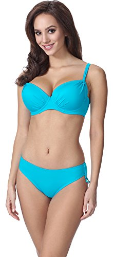 Feba Figurformender Damen Push Up Bikini F03 (Muster-211, Cup 70G / Unterteil 36)