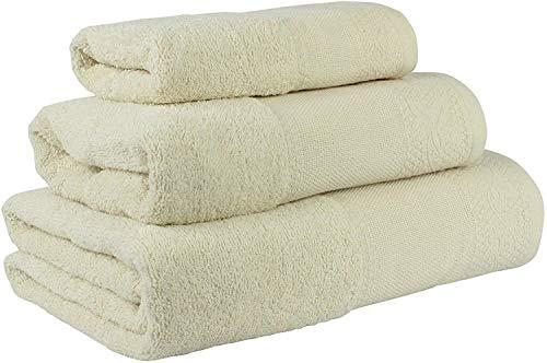 Confort Home M.T (Avellana) Juego de Toallas de baño 3 Piezas REGALITOSTV (1 Toalla de baño, 1 Toallas de Manos y 1 Toalla Cara) 100% algodón, Toallas Ligeras y absorbentes. (Avellana)