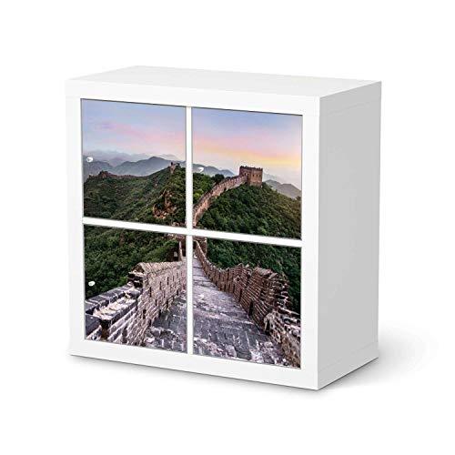 Wandtattoo Möbel passend für IKEA Kallax Regal 4 Türen I Möbelaufkleber - Möbel-Tattoo Sticker Aufkleber I Wohnen und Dekorieren für Wohnzimmer und Schlafzimmer - Design: The Great Wall