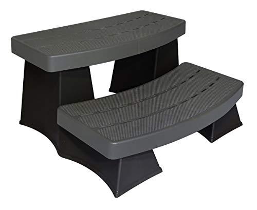 Byron Originals 6130418 SureStep II Spa & Hot Tub Steps - Grey & Black