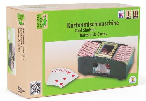 Natural Games Kartenmischmaschine 2 Decks 64 Karten Kartenmischer mit Batterie