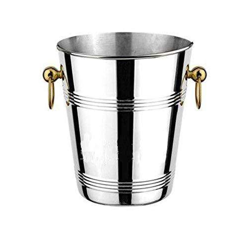 Ishinkar Stora rostfria stålisar i rostfritt stål (skicka isklämma) för fester/för vin-, cocktail- och trädgårdsdrycker kallare ishinkar