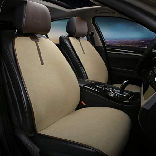 Whitejianpeak Car Seat Cover Canvas Seat Cover Breathable Wear-resistant Universal Semi-surround Car Seat Cover Compatible With Lexus Suitable For 5 Seats Sedan SUV Hatchback