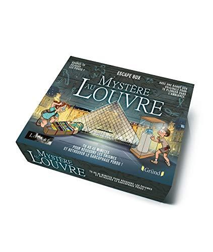 Escape box – Mystère au Louvre – Escape game enfant de 2 à 5 joueurs avec 40 cartes, 1 livret, 1 poster et 1 bande-son – À partir de 8 ans
