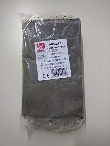 CWR s.r.l. Creta Argilla da Modellare, Marrone, Bianco, 1 kg, 1 Pezzo, Composto per Ceramica e modellazione (Argilla da Modellare, Marrone, Bianco, per Adulti, 1 kg, 1 Pezzo)