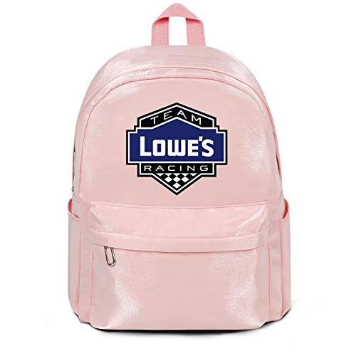 Loweâ€s-Logo- Nylon Bag Purse Classic Lightweight Durable School Backpack Bag Purse Pink for Womens Girl Boys