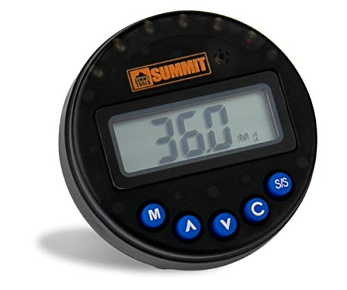 Summit Tools 1-360° Digital Angle Gauge (±2° Accuracy), 50 Memory Slots, Sequential LED and Buzzer Notification, LCD Display, Peak and Track Modes, Accuracy Calibrated