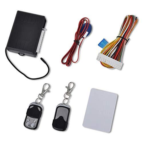 Festnight Kit Cierre centralizado Universal Sistema de Alarma de Coche para 2 y 4 Puertas Universal 12 V