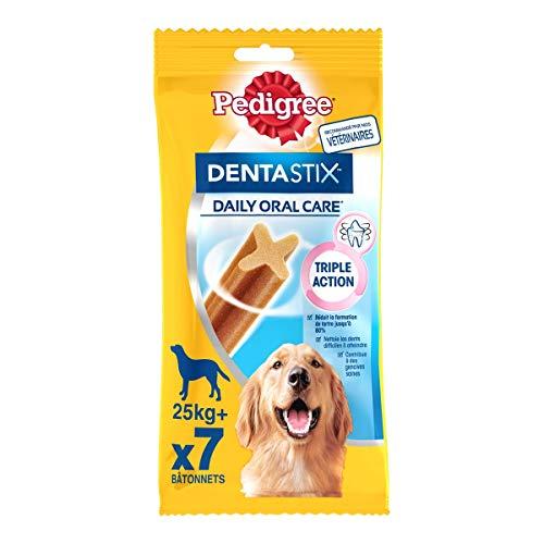 Pedigree Dentastix - Friandises pour grand chien, 70 bâtonnets à mâcher pour l'hygiène bucco-dentaire (10 sachets de 7 Sticks)