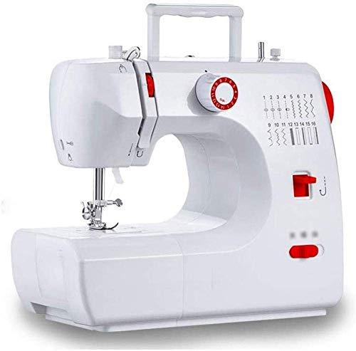 ATRNA beweegbare naaimachine, draagbare mini-high-performance tweespeed onderhoud, met 16 ingebouwde perforaties wit-rood.