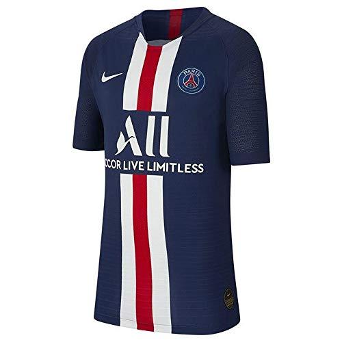 Nike Unisex Kinder PSG Y Nk Vapor Mtch JSY Ss Hm Unterhemd, Mitternachtsblau/Weiß, S