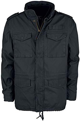 Vintage Industries Ground Parka Männer Winterjacke schwarz L 100% Baumwolle Basics