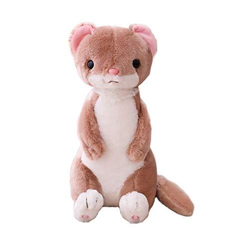 HJHJK Nettes Frettchen-Tierkissenpolster Neues kreatives weiches Kissen gefülltes lustiges Spielzeug Plüschtier-Baby-Geburtstagsgeschenk-Hausdekor (Color : Brown)