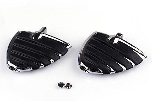 Fußrasten Wing Mini Trittbretter Chrom für Harley Davidson XL Dyna Softail E-Glide Sportster uw.