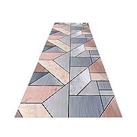 ラグ カーペット 現代のストライプラグ、黒とグレーとイエローノンスリップラグドアマットカーペットランナー廊下、回廊アイルエリアラグ階段カーペットに適し、任意のサイズ (Color : A, Size : 1x2m)