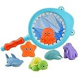 WINBST Baby badespielzeug Badetiere Badewanne Spielzeug Geschenkset für Kinder,badespielzeug für...