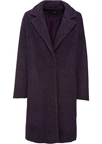 bonprix Moderner Mantel in Wolloptik mit Druckknopf-Verschluss dunkellila 36 für Damen