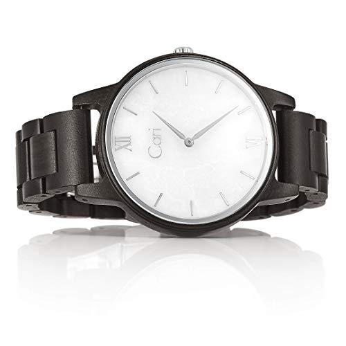 Cari Damen & Herren Holzuhr mit Schweizer Uhrwerk - Holz-Armbanduhr Athen-121