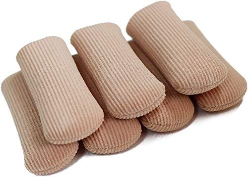 ERGOfoot 6 Pack Toe Caps Close Finger Toe Sleeve Tubes Toe Protectors Gel Rubbing Tube to Prevent Bunions, Hammertoes, Callus, Corn, Blisters(Diameter 2.5cm)