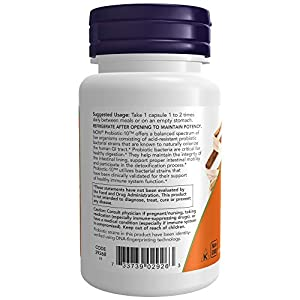 NOW Supplements Probiotic-10 25 Billion with 10 Probiotic Strain Verified, 50 Veg Capsules