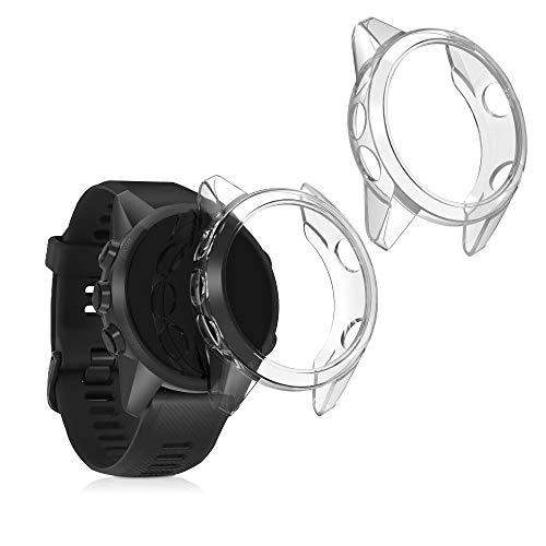 kwmobile 2X Carcasa Compatible con Garmin Forerunner 745 - Funda para Fitness Tracker en Transparente